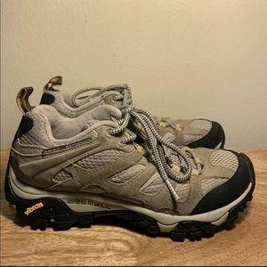 Merrell Moab Waterproof Taupe Hiking Shoe